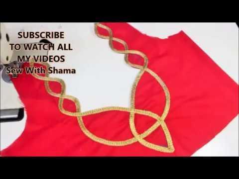 New Model Blouse Back Neck Design Very easy To Make (DIY)