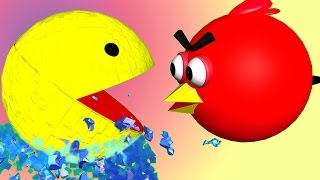 ANGRY BIRDS in PIXELS !!  ♫  3D animated  mashup parody ☺ FunVideoTV - Style ;-))