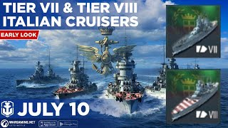 World of Warships Blitz: Early Look at Tier 7 and Tier 8 Italian Cruisers and Stats