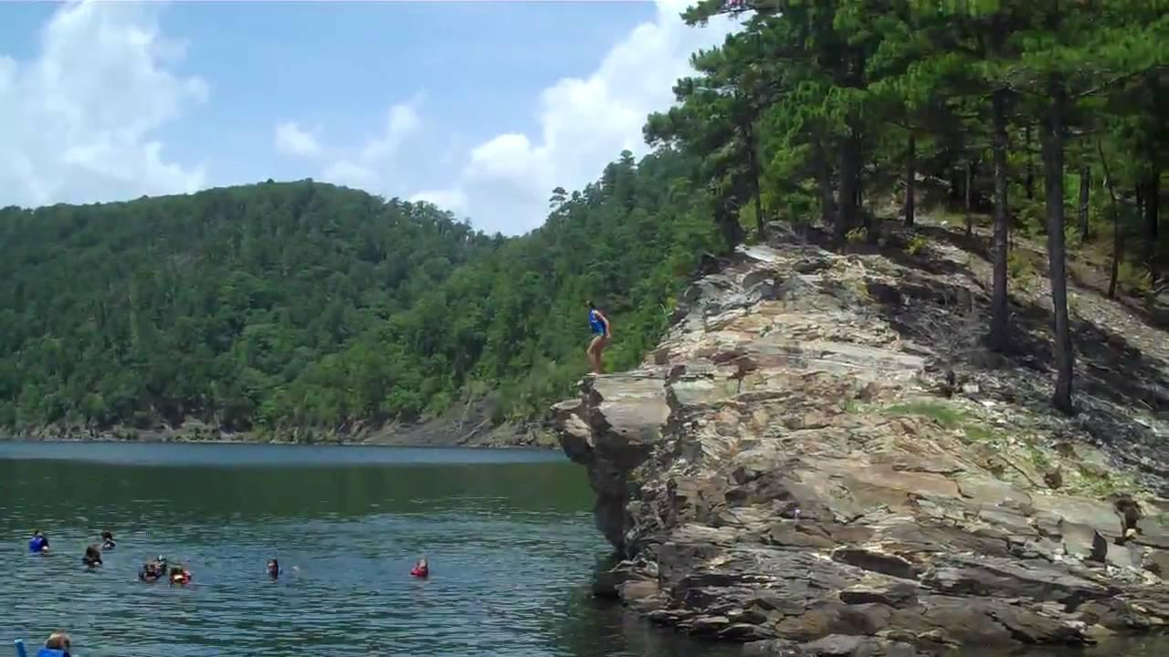 201007 Broken Bow Cliff Jumping Hannah 15 Foot Youtube
