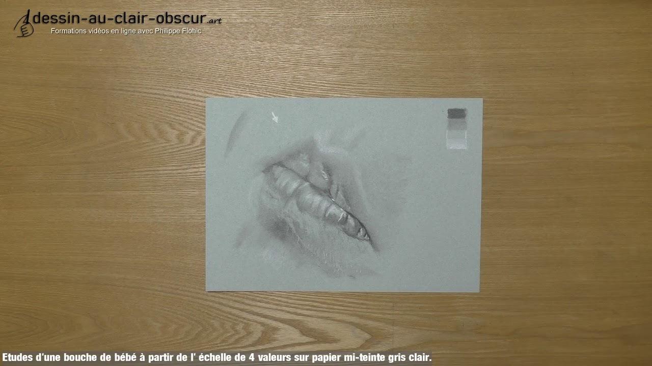 Teinte De Gris Clair etudes d'une bouche de bébé à partir de l' échelle de 4