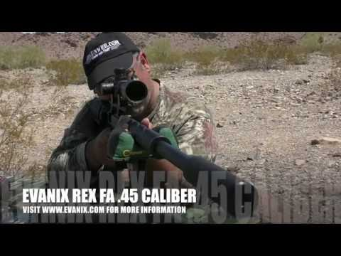 "Evanix REX FA .45 - Power, Accuracy, Range, the ""total package"" big bore hunting airgun."