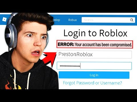 Someone Hacked My Roblox Account Youtube