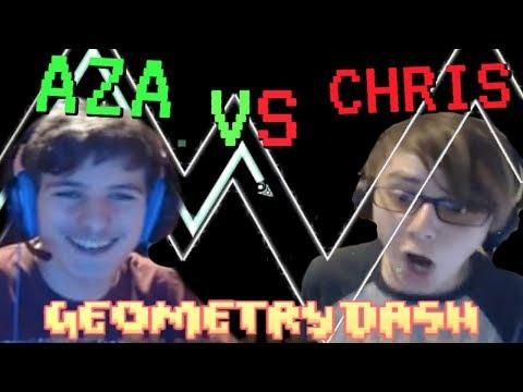ChrisCredible Vs. AzaFTW - Geometry Dash Challenge Race