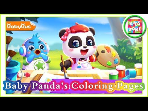 Baby Panda Coloring Pages Gameplay Babybus Babybus Babybusgame Babybuscartoon Youtube