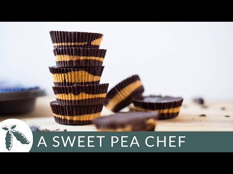 Dark Chocolate Peanut Butter Cups | A Sweet Pea Chef