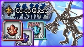 Farming Tier 3 Crystals & LV 50 Co-OP Quest Skull Dragon ~ Dissidia Opera Omnia