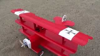 The Red Baron Rc Plane Built From White Foam Board. For PDF Plans Foamconceptjets.com