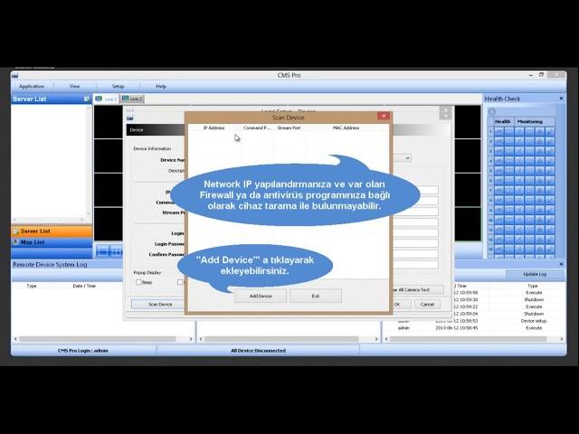 BLW CMS PRO Programına Cihaz Ekleme