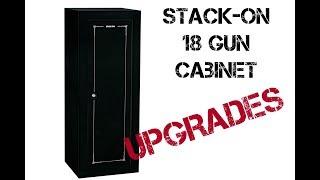 Stack-on 18 gun cabinet BEST UPGRADES!