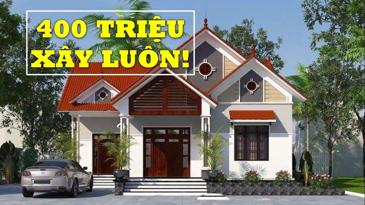 Mẫu Nhà Cấp 4 mái Thái Giá Rẻ Chỉ 400 Triệu Đẹp Hiện Đại | Kiến Trúc Nhà Đẹp