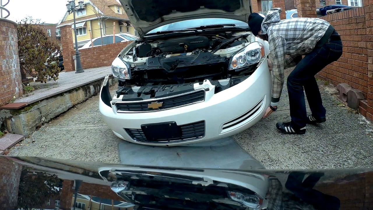 hight resolution of how to remove and install front bumper chevrolet impala