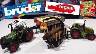 ? Bruder & Dickie Toys. Сравнения Машинок – Трактор с прицепом от Игорька / Cars for boys ?