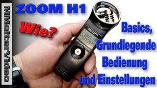 Zoom h1 - basics und einstellungen von mmoltervideo