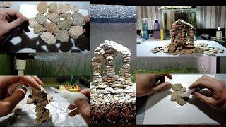 Как сделать грот,замок,скалу,руины своими руками для аквариума/How to make a grotto, castle, rock