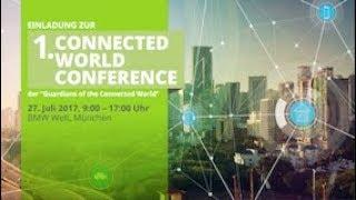Frank Astor moderiert die 1. Connected World Conference 2017
