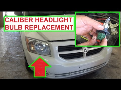 Headlight Bulb Replacement Dodge Caliber. How to Replace headlight ...