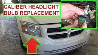 Headlight Bulb Replacement Dodge Caliber.  How to Replace headlight bulb 2007 - 2012 Caliber