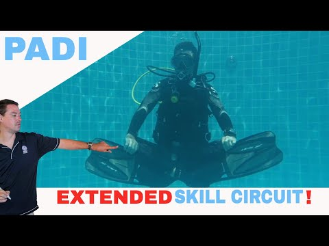 Extended PADI Divemaster Skill Circuit With Revised Open Water Diver Skills