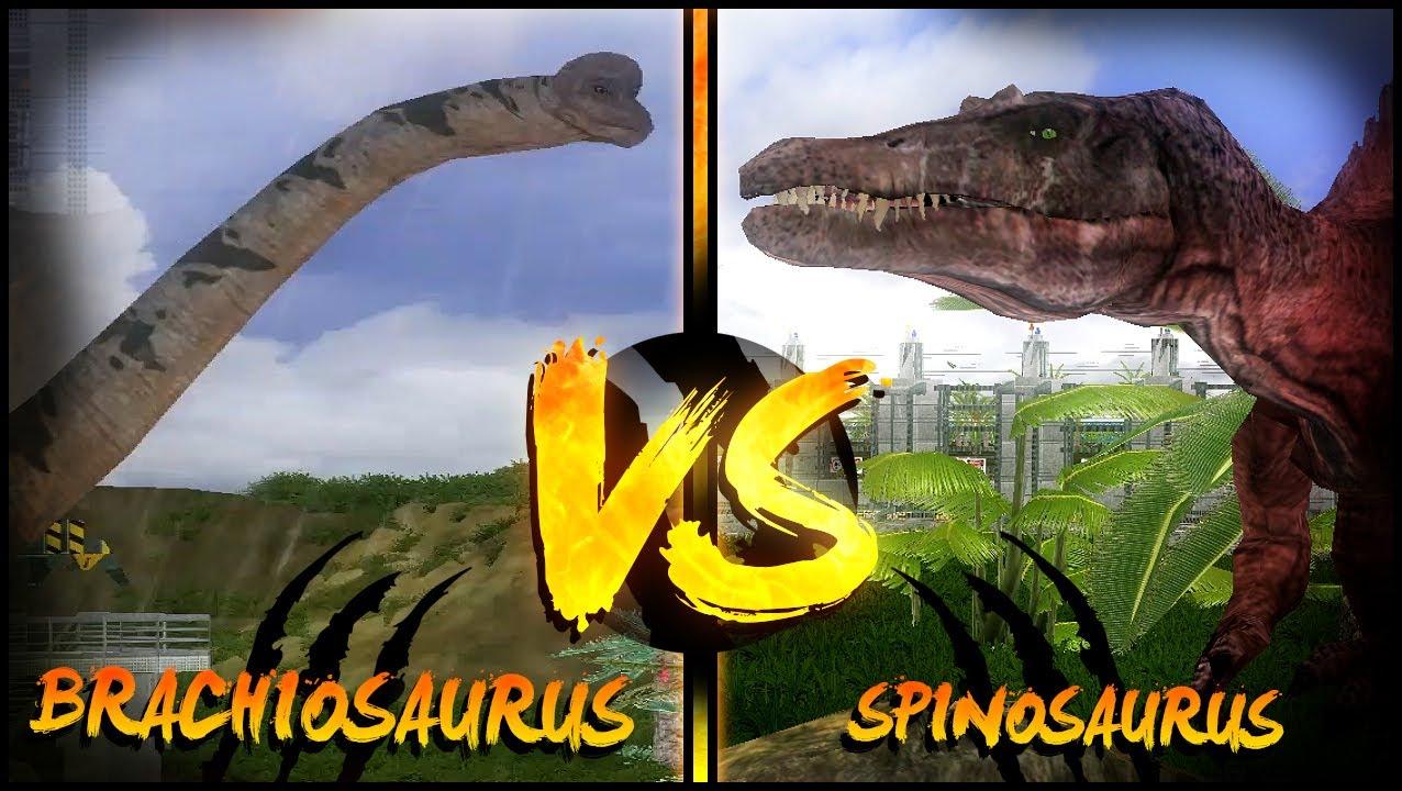 Dinosaur Battles - Brachiosaurus vs Spinosaurus   Jurassic ...