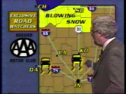 January 23, 1987 - Bob Gregory's Weather Forecast for Indianapolis