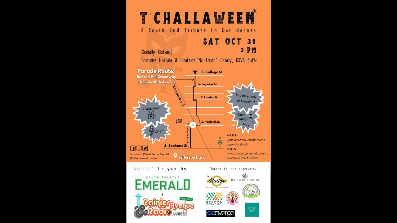T'Challaween Live on Rainier Avenue Radio, by South Seattle Emerals