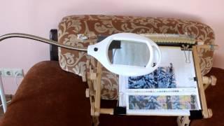 Обзор лампы-лупы напольной Rexant для вышивки