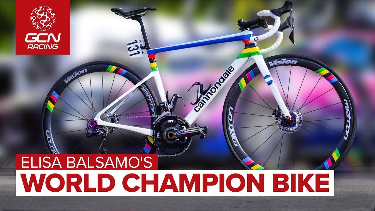 World Champion Elisa Balsamo's Custom Painted Cannondale!