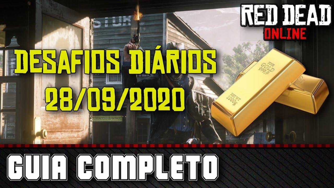 Desafios Diários - Red Dead Online 28/09/2020