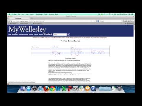 Pre-registering for FirstYear courses at Wellesley College