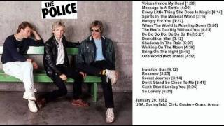 "THE POLICE - Springfield,Massachusetts ""Civic Center"" 20-01-1982 U.S.A. (full show)"