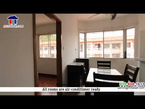 Live tour for 3 rooms Beverly Hills Apartments, Kota Kinabalu
