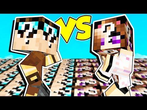 LUCKY BLOCK DI LYON contro LUCKY BLOCK DI ANNA su MINECRAFT!