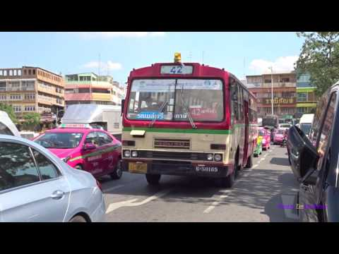 Buses in Bangkok, Thailand 2017 รถบัสในกรุงเทพ
