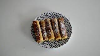 roulés nutella fraise banane مرطبات الروليه بالنوتله و الفرولة و الموز