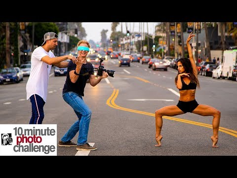 Matt Steffanina Blindfolds Me for 10 Minute Photo Challenge with Viral Ballerina