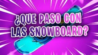 ¿QUE PASO CON LAS SNOWBOARDS EN FORTNITE?