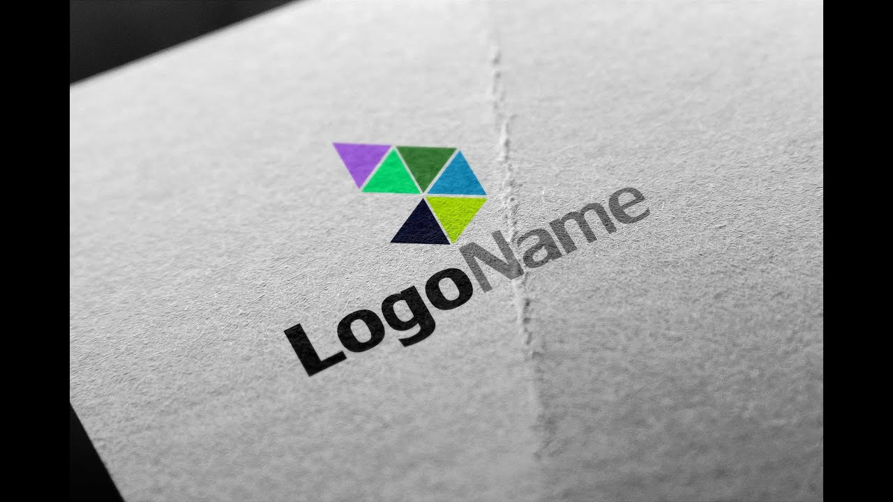 How to make a logo in Illustrator and Mock up with Photoshop for ...