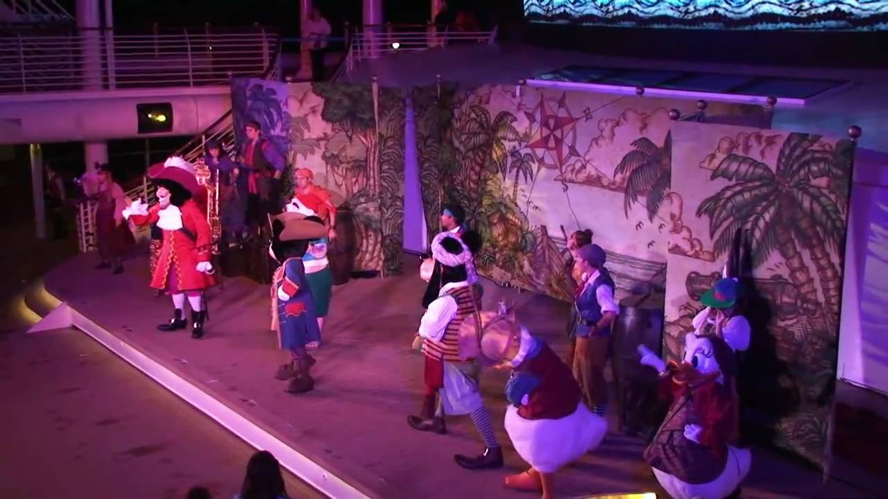Mickeys Pirates In The Caribbean Show Disney Dream Christening Cruise Disney Cruise Line 120