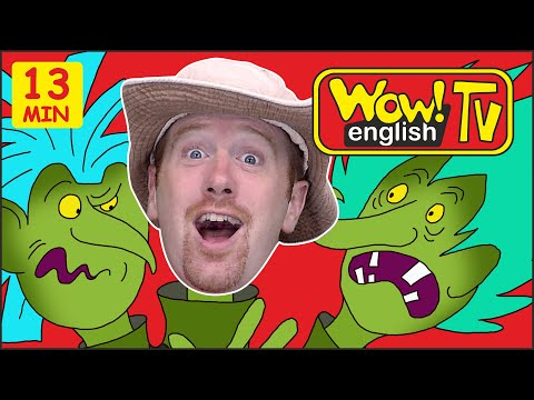 Safari Animals, Monsters + MORE Stories from Steve and Maggie | Speaking Wow English TV