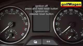 Skoda ROOMSTER oil service light reset