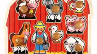 Melissa And Doug Jumbo Knob Wooden Farm Puzzle