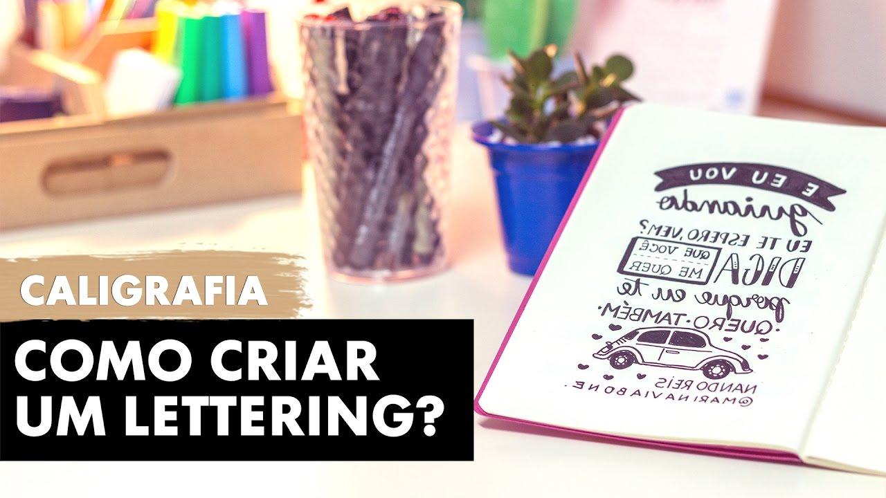 como criar um lettering