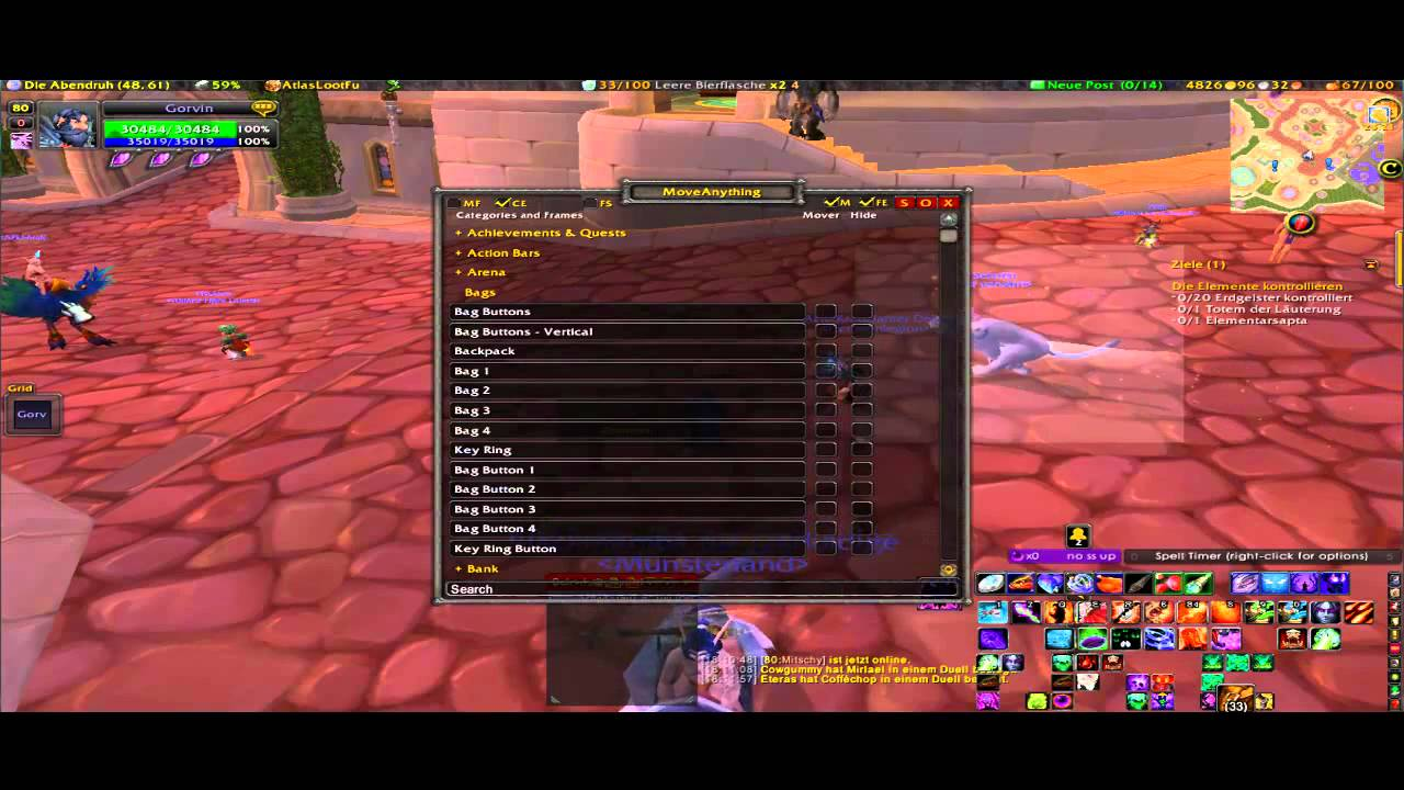 WoW Addon: Moveanything