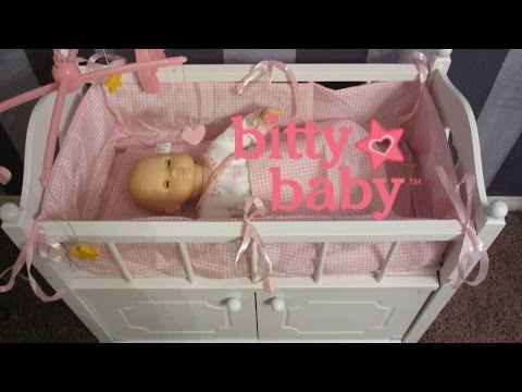 BITTY BABY CRIB UNBOXING!  Badger Basket Crib by Badger Toys