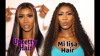 SLAYED BOTH! UPRETTY STRAIGHT HAIR vs. MI LISA DEEP WAVE HAIR  (REVIEWS) Aliexpress