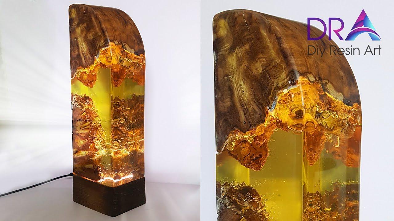 Easy making Epoxy Resin lamp wood | Diy Resin Art