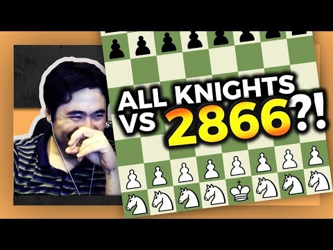 All Knights Vs. 2866 Rated Player? | Subscriber Odds Games With Hikaru Nakamura