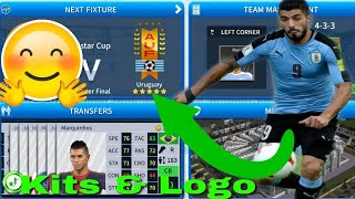 Dream League Soccer 2019 How To Make Uruguay National Team Kits & Logo 2019  Copa America Cup