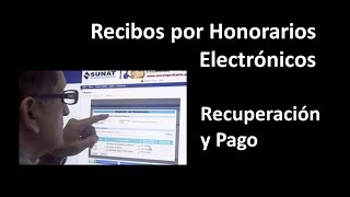 Recibos por Honorarios Electronicos - Recuperacion y Pago